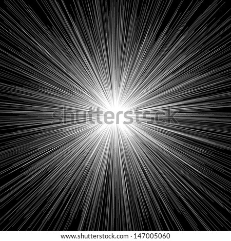 Light burst. Abstract illustration.  - stock vector