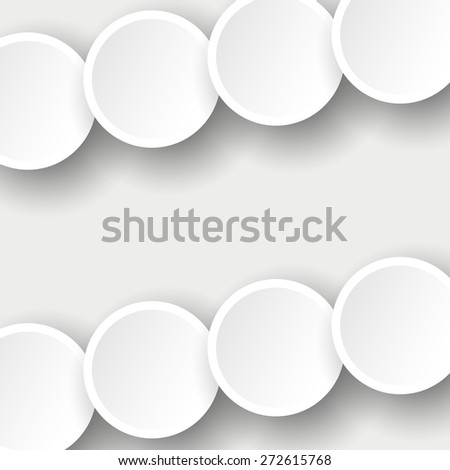 Light circles abstract background vector illustration