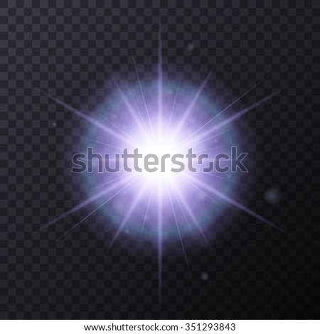Light Color Glow Flare Star Effect Stock Vector 351293843 ...