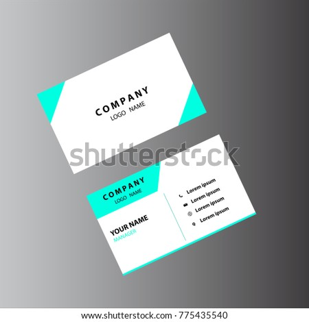 Light colored simple business card stock vector 775435540 shutterstock light colored and simple business card reheart Image collections