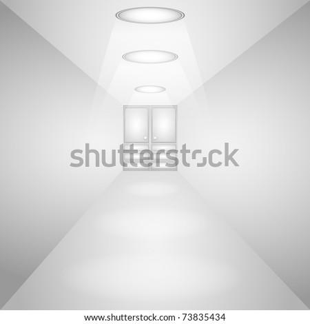 Light Corridor. Vector illustration - stock vector