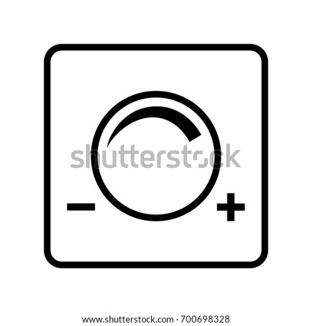 Light Dimmer Switch Black And White Icon Vector Illustration