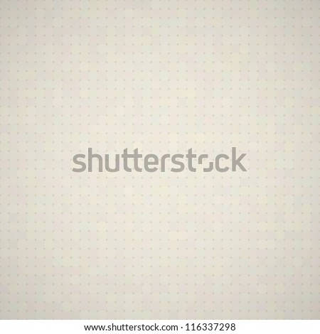 Light dotted beige texture. EPS10 vector seamless background. - stock vector