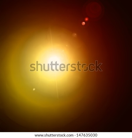 Light flare yellow effect. Vector - stock vector