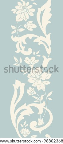 Light floral vintage seamless pattern - stock vector