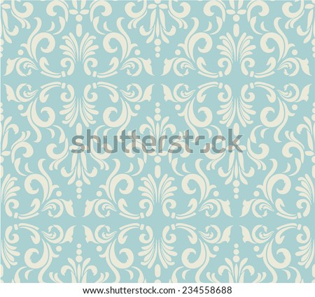 Light floral vintage seamless pattern for retro wallpapers - stock vector