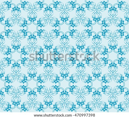 light gentle background of floral ornament for your greeting cards. blue color. vector illustration. for the design, printing, postcards. seamless pattern