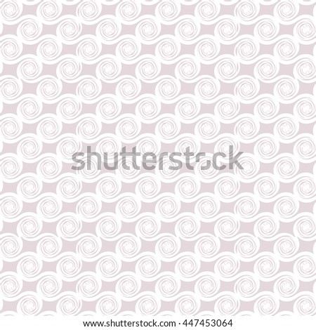 Light geometrical seamless pattern with abstract spiral ornament. Beautiful tender texture for textile, wallpaper, wrapping paper and for your backdrop. Abstract background. Vector illustration - stock vector