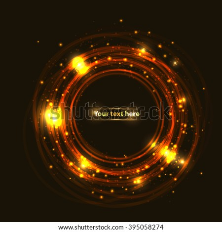 light gold circle for your design, text or presentation - stock vector