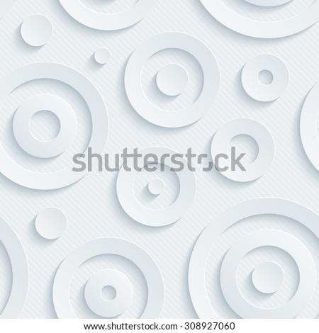 Light gray circles walpaper. 3d seamless background. Vector EPS10. - stock vector