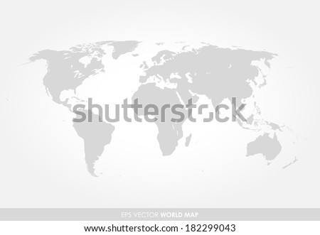 Light gray detailed world map on stock vector 182299043 shutterstock light gray detailed world map on white background gumiabroncs Gallery