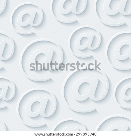 Light gray e-mail wallpaper. 3d seamless background. Vector EPS10. See others in My Perforated Paper Sets. - stock vector