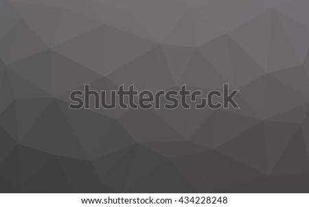 Light gray polygonal illustration, which consist of triangles. Triangular design for your business. Geometric background in Origami style with gradient.