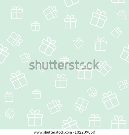 Light green background with gift boxes