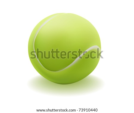 light green ball for tennis on a white background