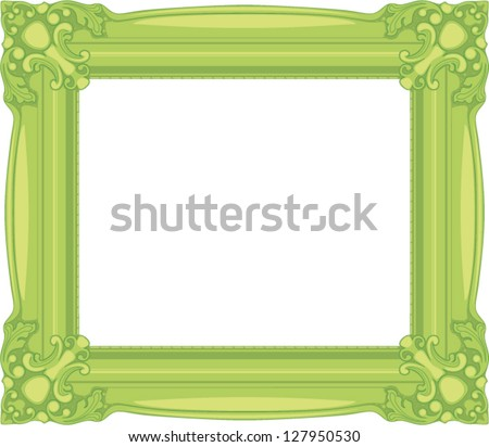 light green baroque frame