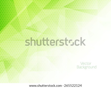 Light green color modern background design with polygonal shapes.  - stock vector
