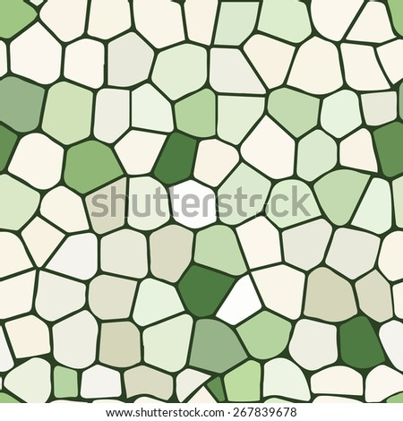 Light green stained glass Illustration (seamless texture) - stock vector