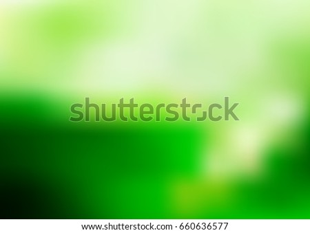 Light Green vector abstract blurred pattern. A completely new color illustration in a vague style. The template can be used as a background of a cell phone.