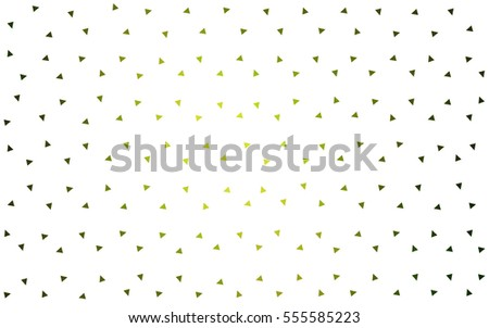Light Green vector geometric simple minimalistic background, which consist of triangles on white background. Triangular pattern with gradient for your business design.