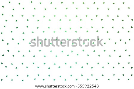 Light Green vector of small triangles on white background. Illustration of abstract texture of triangles. Pattern design for banner, poster, cover.