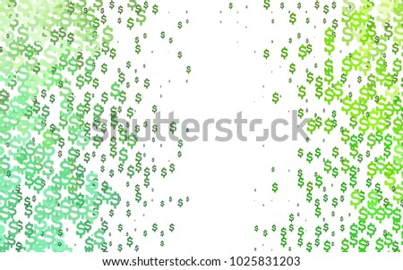 Light Green Vector Template Us Currency Stock Photo Photo Vector
