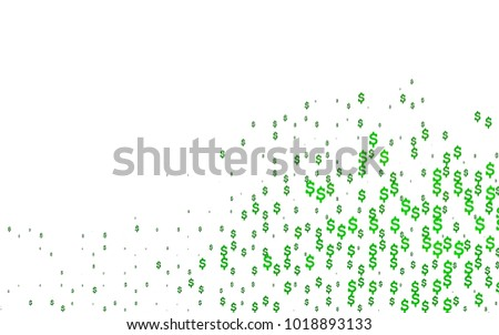 Light Green Vector Template Us Currency Stock Vector 1018893133