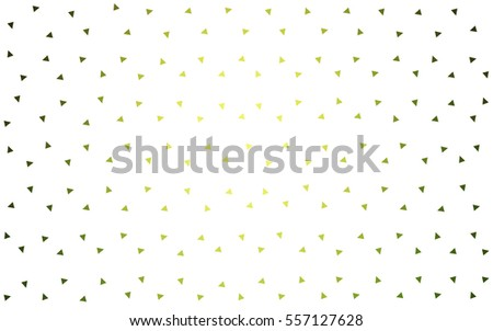 Light Green Yellow vector of small triangles on white background. Illustration of abstract texture of triangles. Pattern design for banner, poster, cover.