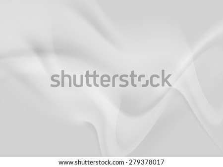 Light grey abstract smooth wavy background. Vector design