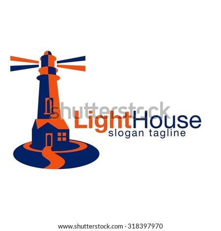 Light house logo - stock vector