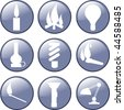 Light icons - stock vector