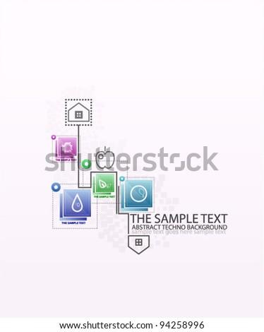 Light infographic fields - stock vector