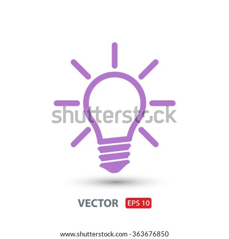 Light lamp  icon. One of set web icons - stock vector