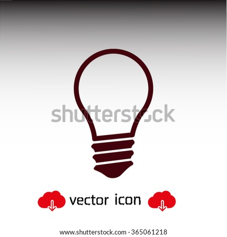 Light lamp  icon. One of set web icons