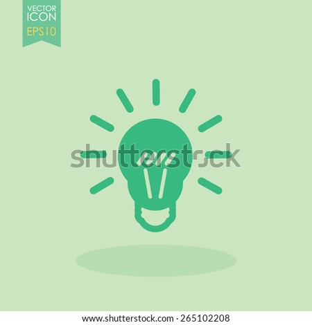 Light lamp vector icon. Idea symbol. - stock vector