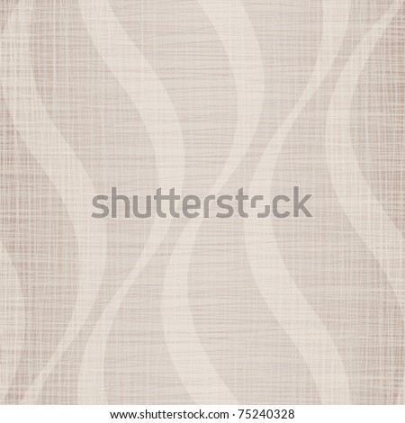 Light linen cotton fabric with a wavy pattern - stock vector