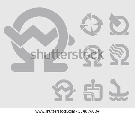 light machinery symbols for the construction industry icon set for web-design, high quality print and any other creative works and business use - stock vector