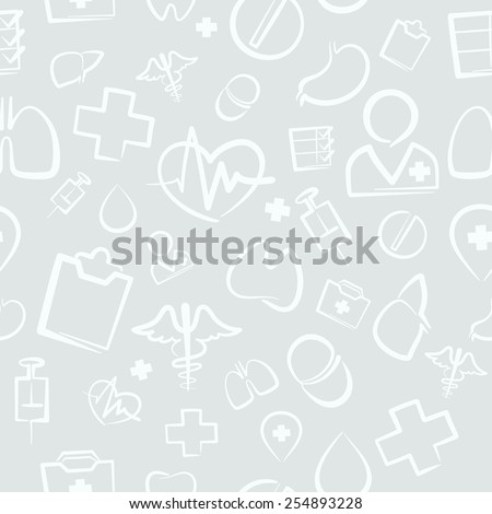 Light Medical Seamless Pattern. Editable pattern in swatches. - stock vector