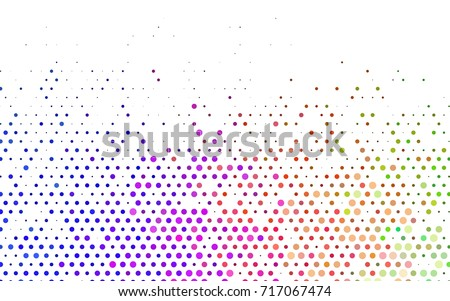 Light Multicolor, Rainbow vector modern geometrical circle abstract background. Dotted texture template. Geometric pattern in halftone style with gradient.