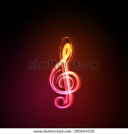 Light music notes on background  easy editable - stock vector