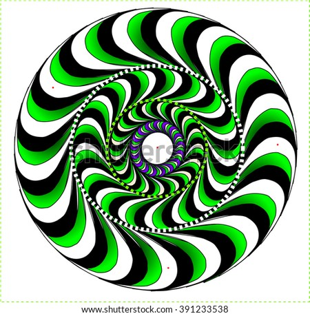 light optical illusion, circular motion - stock vector