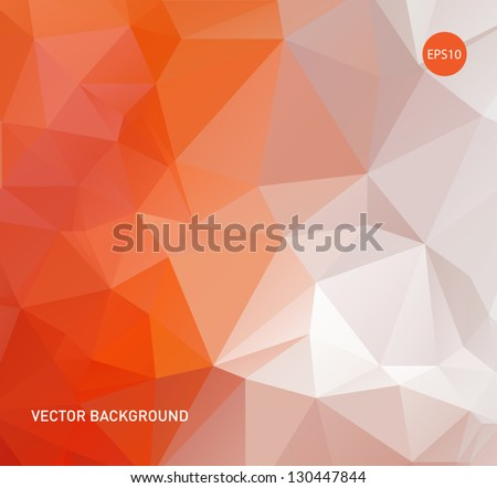 Light orange vector abstract polygonal background - stock vector