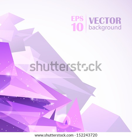 Light orange vector abstract polygonal background