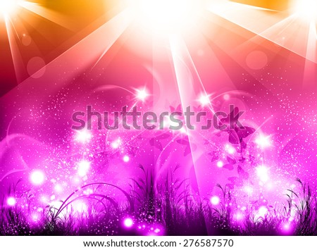Light party glow background, easy all editable - stock vector