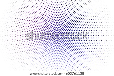 Light Pink, Blue vector illustration which consist of circles. Dotted gradient design for your business. Creative geometric background in halftone style with colored spots.