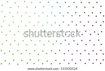 Light Pink Green vector geometric simple minimalistic background, which consist of triangles on white background. Triangular pattern with gradient for your business design.