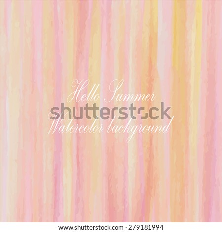 light pink orange yellow rainbow tone with retro vintage style and isolate on white background in summer wedding card. - stock vector
