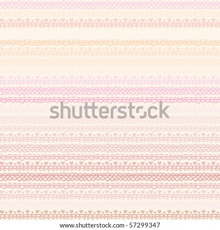 light pink seamless pattern with horizontal ornament - stock vector