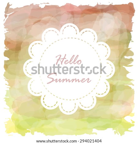 Light red pink violet green tone with retro vintage style and isolate on white background in summer. Love hipster wedding card - stock vector