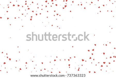 Light Red Vector Abstract Small Hearts Stock Vector 737363323 ...